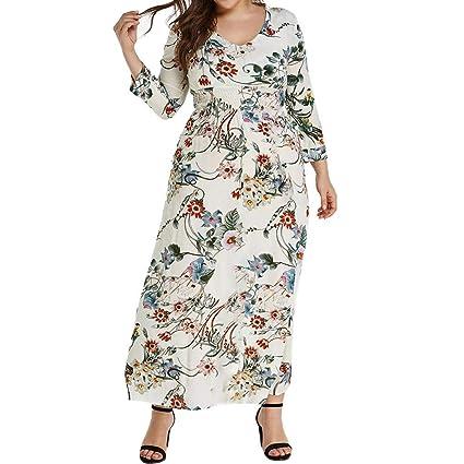 ღLILICATღ Mujer Vestidos Largos De Verano Casual Vintage Bohemio ...