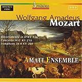 Mozart: Divertimento in D, KV. 136 / Concerto in G, KV. 216 / Symphony in A, KV. 201