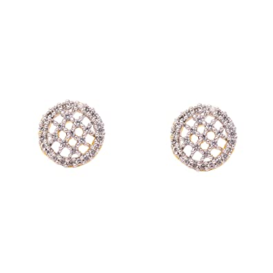 a7556dd75 Buy Eklavya Cubic Zircon American Diamond Studs Earrings For Women and  Girls Online at Low Prices in India | Amazon Jewellery Store - Amazon.in