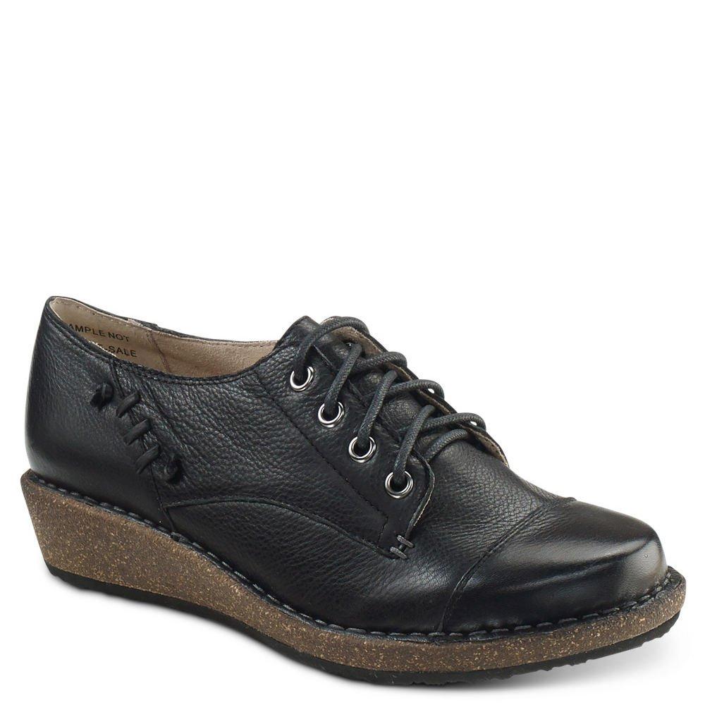 Aetrex Riley Cap Toe Lace-Up Oxford (40 M (B), Black)