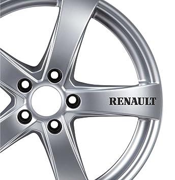 6 pegatinas para ruedas de aleación, para Renault Clio Megane Scenic CAPTUR Zoe Twing