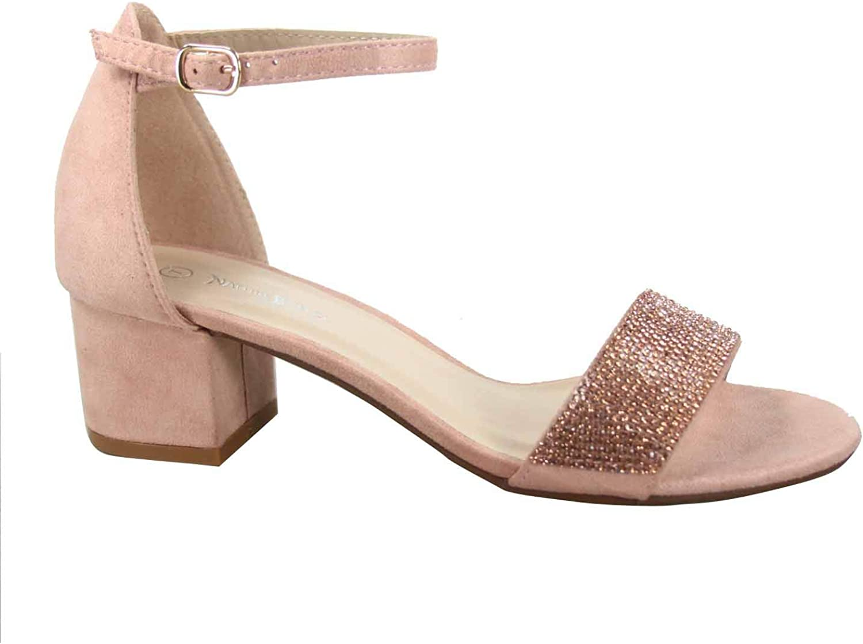 low heel glitter sandals
