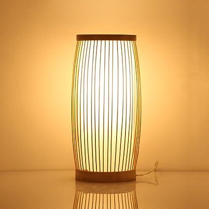 Lámpara de pie Bamboo Arts Lámpara de mesa Lámpara de ...
