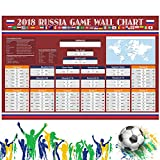 #10: daohuous Russia 2018 World Cup Poster - Great Football Matches Schedule Poster World Cup Wall Chart Poster 2018, Wall Decation for Boy (Poster)