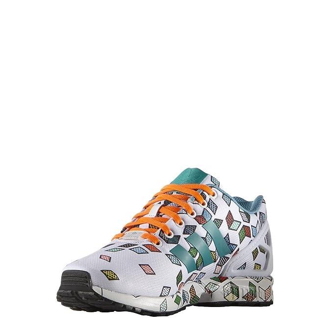 0e13a0a971b adidas Originals ZX Flux Men s Trainers (S79096) (Footwear White   Footwear  White   Solar Orange) (UK 13.5   EU 49 1-3   US 14)  Amazon.co.uk  Sports    ...