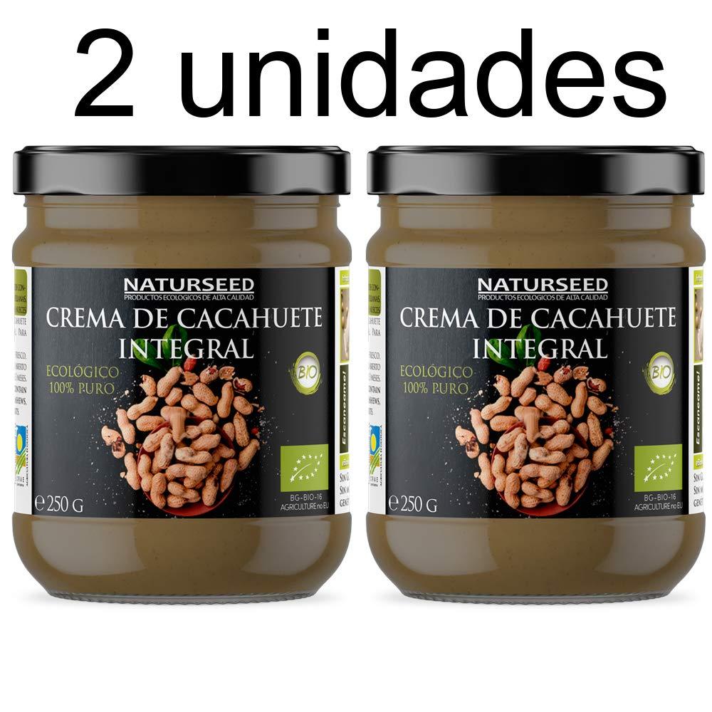 Naturseed - Crema de Cacahuete Organica 100% Natural Ecologica - Sin azúcar, Sin Sal, Sin Gluten, Sin Lactosa - Cacahuetes Bio Crudos con Piel - Sabor Dulce ...