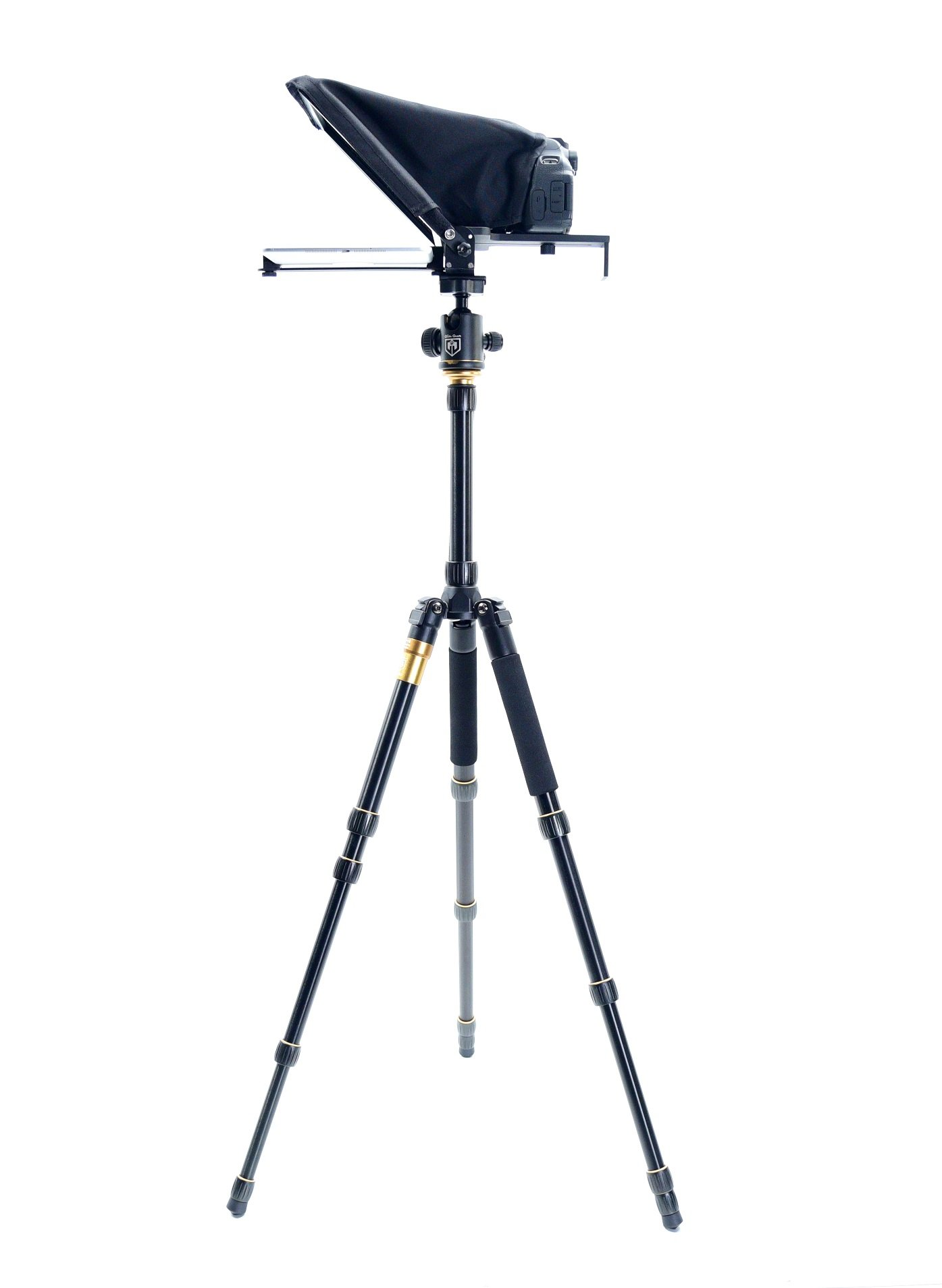 Glide Gear Small Camera Smartphone iPad Tablet Teleprompter & Tripod Package by Glide Gear