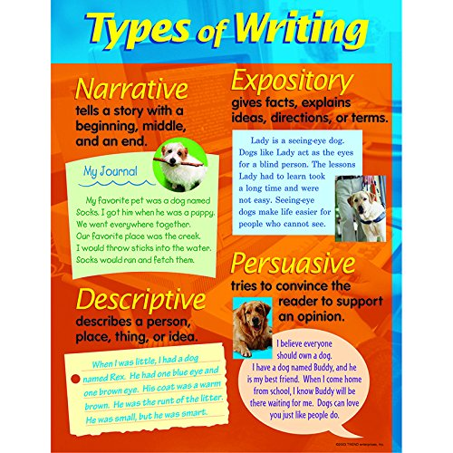 Trend Enterprises Types of Writing Learning Chart (T-38128)