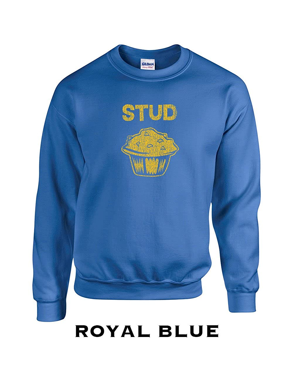 Swaffy Tees 144 Stud Muffin Funny Adult Crew Sweatshirt