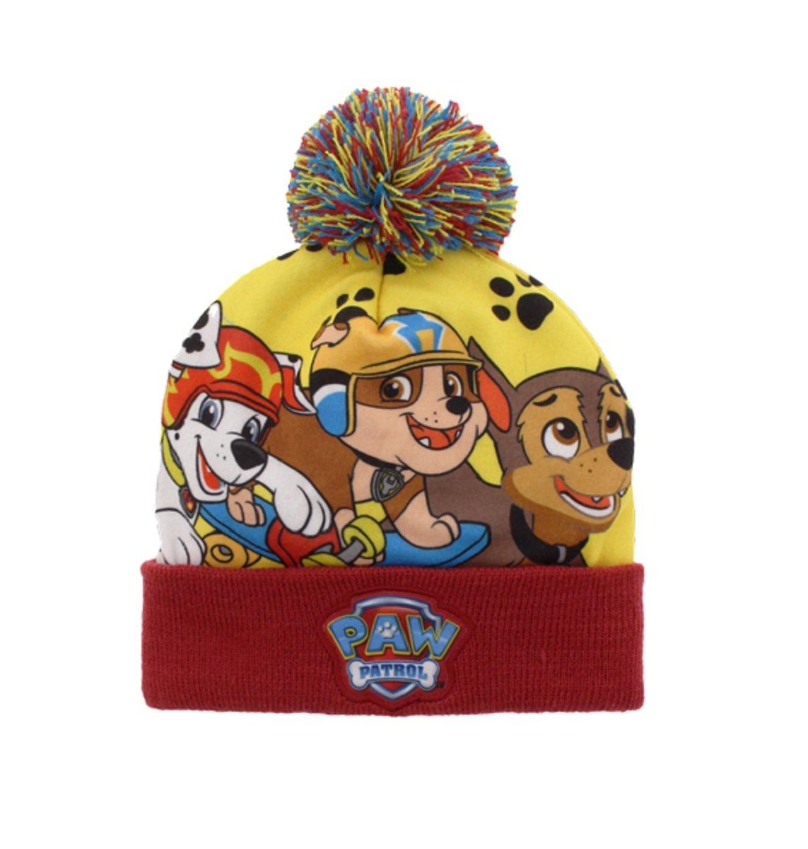 PAW Patrol Boys Pom Pom Hat Size 4-6X (Rule) Gertx