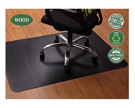 Office Chair Mat For Hardwood And Tile Floor, Black, Anti Slip, Under