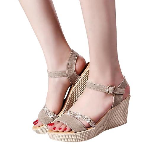 585181811 Sandalias Plataforma Vestir para Mujer QinMM Zapatos de Baño ...
