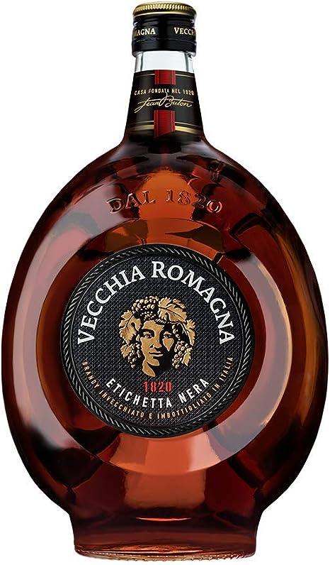 Vecchia romagna etichetta nera 1,5l - brandy frutto di una doppia distillazione e di un doppio invecchiamento 0012078