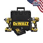 DeWalt 20V max XR litio Ion Premium taladro percutor & atornillador de impacto sin escobillas Combo Kit, DCK299P2, 5.0 Ah