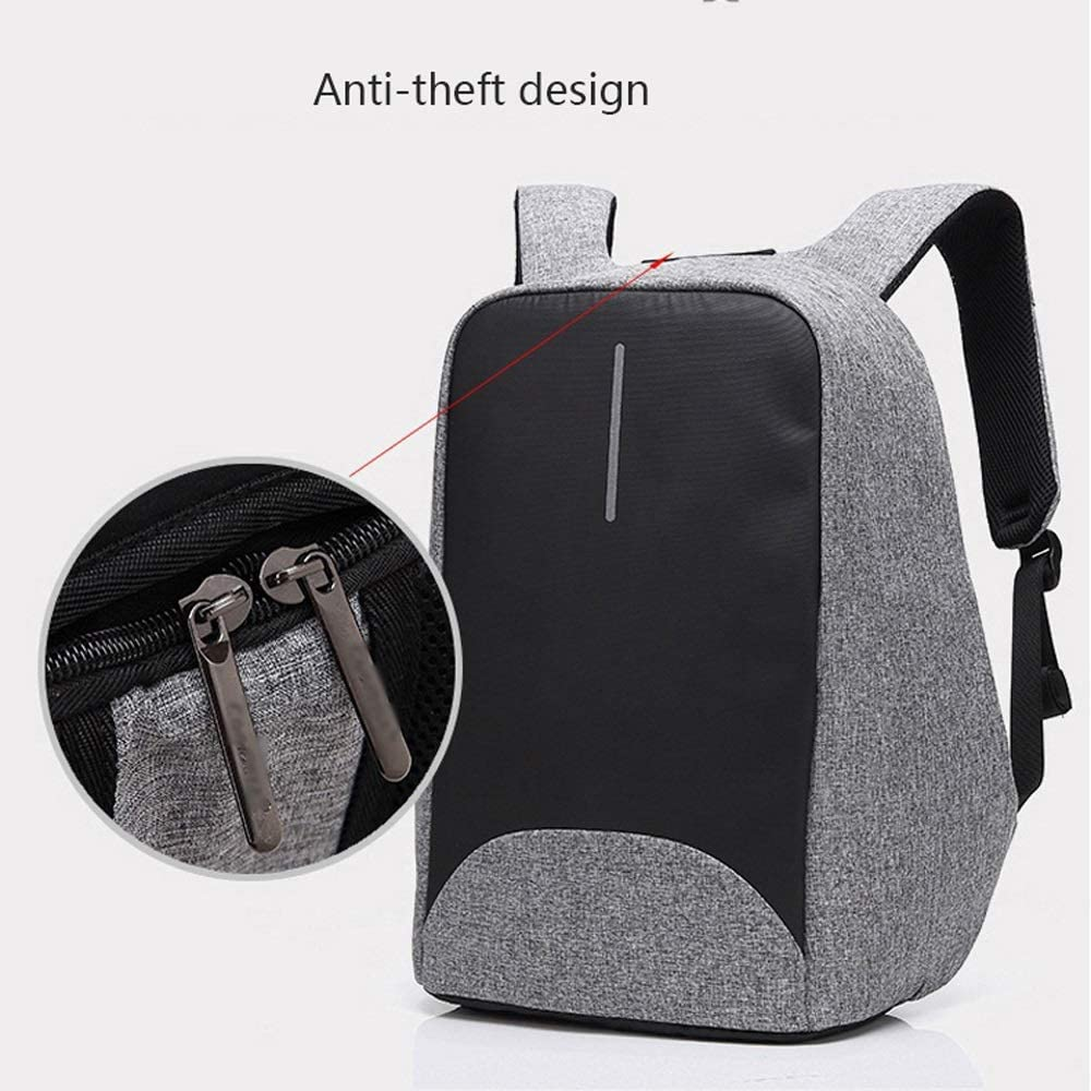 Suitable for 15.6-inch Laptop Unisex CY Travel Laptop Backpack Business Security Durable Computer Backpack with USB Charging Port Waterproof University Campus Computer Bag