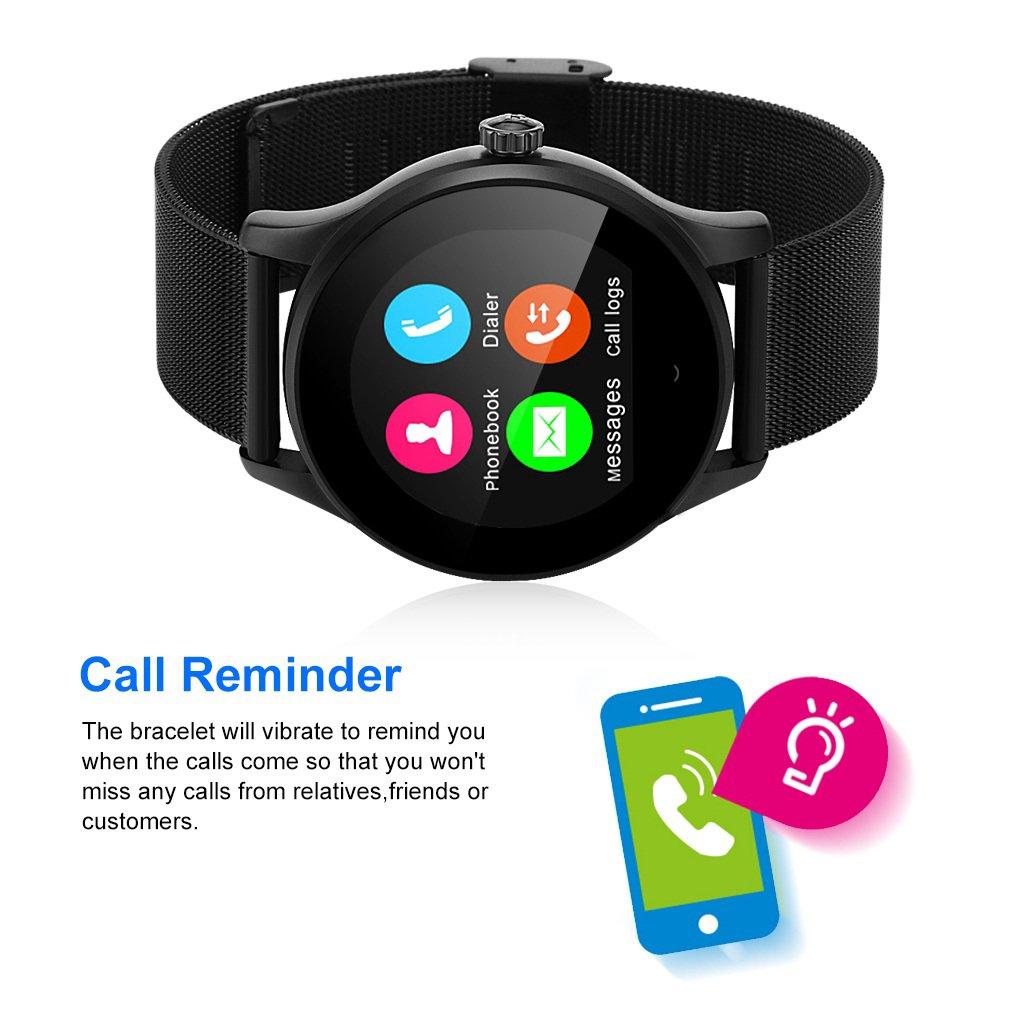 Diggro K88H - Smartwatch Pulsera Inteligente para Móvil Android IOS (Ritmo Cardíaco, Monitor del Sueño, Podómetro Calorías, Recordatorio de la Llamada / SMS ...