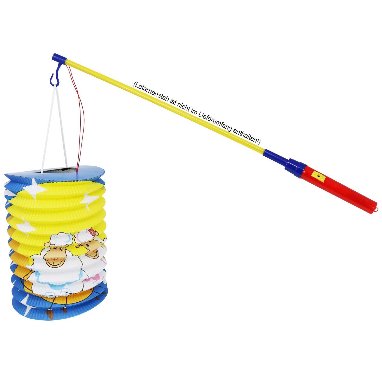 03 Morceaux - m/élange cylindrique /Ø 15 cm la s/élection varie Lanterne pour Enfants com-four/® 3X Lanterne en Papier pour Enfants dans diff/érents Motifs