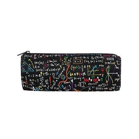 Estuche para lápices BIGJOKE para educación matemática, bolsa con cremallera, bolsa organizadora para brochas de maquillaje, para niñas, niños, ...
