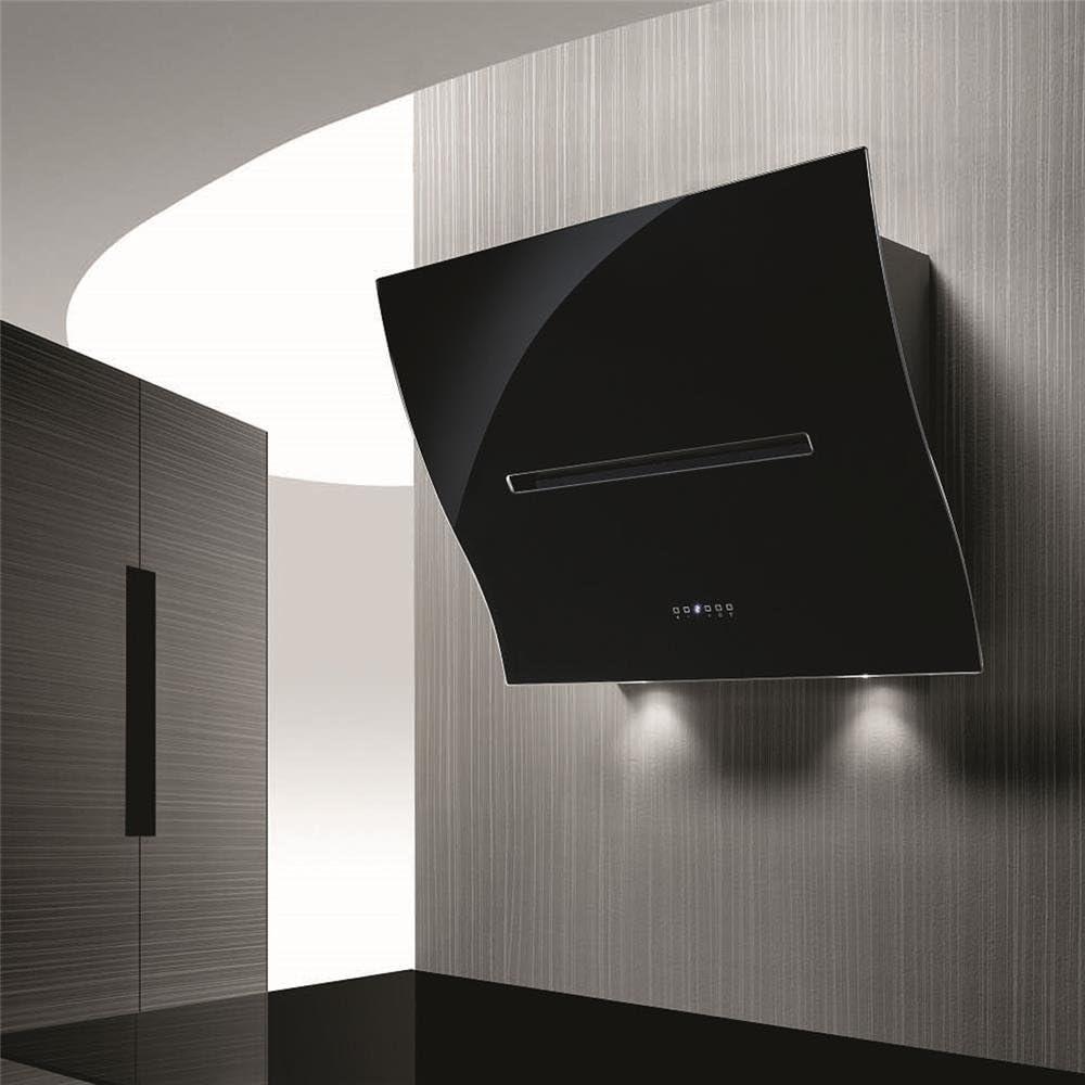 Campana Cocina airone pared Ofelia cristal negro 80 cm: Amazon.es: Grandes electrodomésticos
