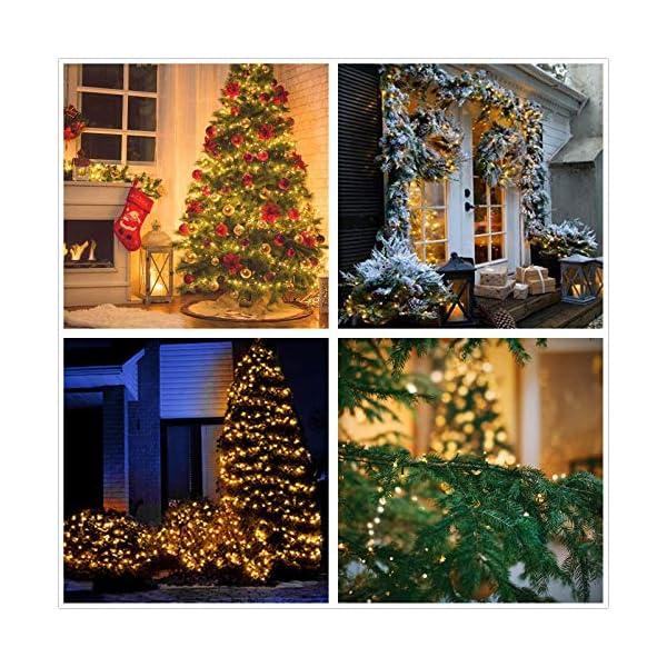 Avoalre Catena Luminosa 2000 LEDs 50M Stringa Luci Natale 8 Modalità Interno/Esterno Impermeabile LED Luci Decorative per Atmosfera Romantica Camera Festa Nozze Compleanno Natale Bianco Caldo 3 spesavip