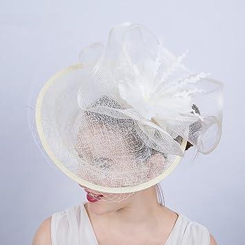 1e68aecbb4b AJON Fascinator Hair Clip Hair Hoop Flower Feather Headwear Women Mesh  Headband Horse Racing Church Christmas