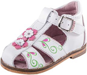 df92353b473f0 Kotofey Baby Girl White Sandals 022056-21 Genuine Leather Orthopedic Sandals  with Arch Support