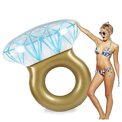 TGDY Balsa Flotante Inflable Gigante del Anillo De Diamante De La Piscina Grande para La Despedida