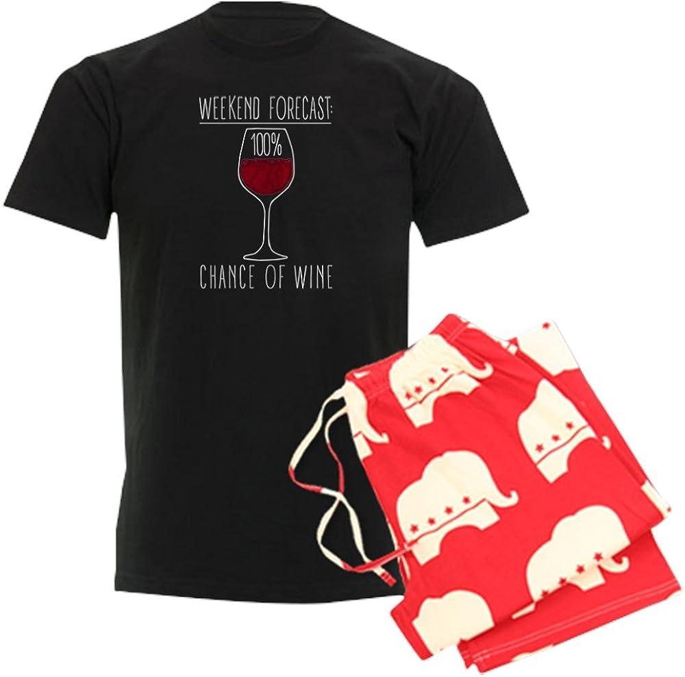 CafePress 100 Percent Chance of Wine Pajama Set