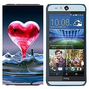 EJOOY---Cubierta de la caja de protección para la piel dura ** HTC Desire Eye M910x ** --Corazón de agua líquida