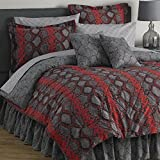 10 Piece SNAKESKIN King Size Comforter and Sheet Set