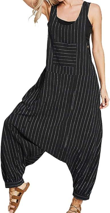 Womens Ladies Cami Jumpsuit Playsuit Harem Baggy Plain Long Ankle Plus Size