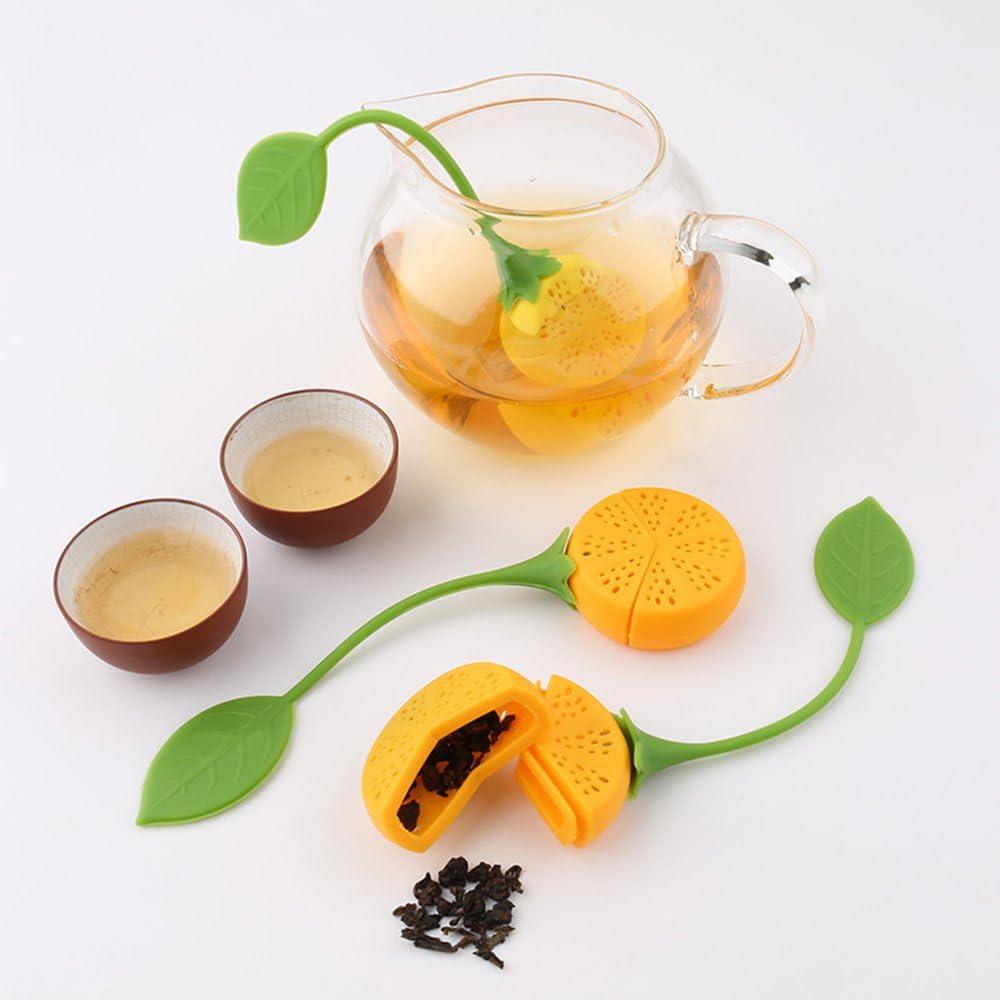 6pc, Forma del limone Diffusore Giallo Di Silicone Submarine Di Filtro Di T/è CRIVERS Infuser Tea /& Tea Strainer innovativo