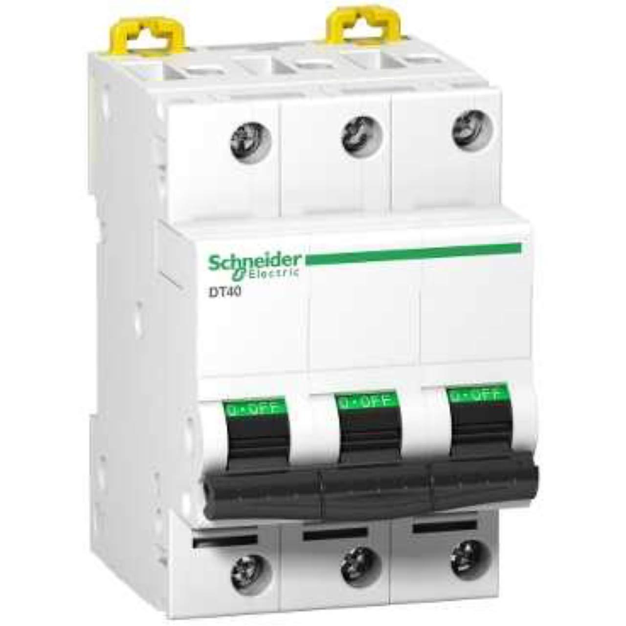 Schneider–Schneider dt40N 3Phase 32Amp Circuit Breaker C Curve–Electric a9N21389