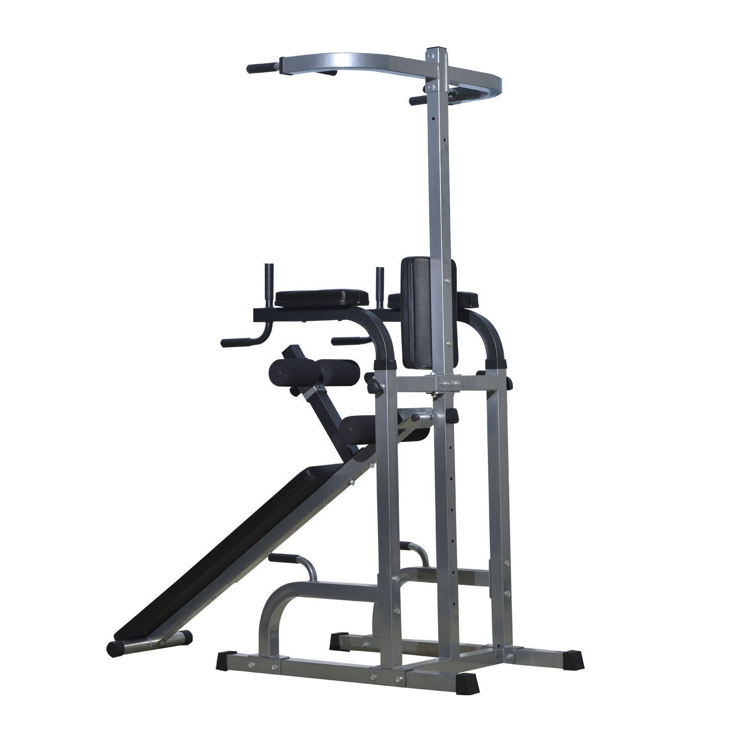Home Gym Workout Strength Fitness Training Power Tower Dip Station Weight Bench by Happybeamy (Image #2)