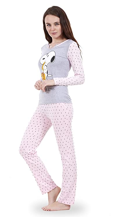 e181ec99 Snoopy - Conjunto de pijama Snoopy de manga larga para mujer Pijama de  Mickey o de Minnie ...