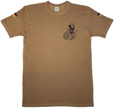 Copytec Cazador de montaña con Edelweiss Original Trope Camiseta Camisa De Buceo Después de TL Isaf KSK Bundeswehr: Amazon.es: Ropa y accesorios
