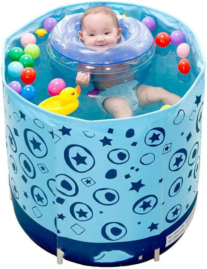 HEROTIGH Piscinas Hinchables Baby Swimming Pool_Insulation Baby Swimming Pool Inflables Inflables Inflables para Bebés Inflables para Niños Piscina Barril Azul 70 * 70Cm Bañera Inflable Pool Tub