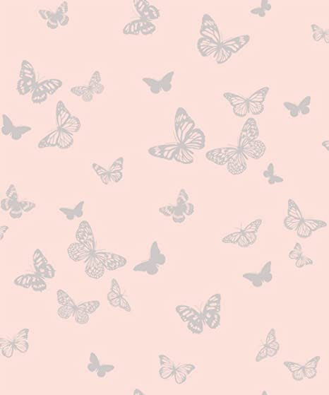 Dl40580 Glitz Room Pink Butterflies Raised Print Fine