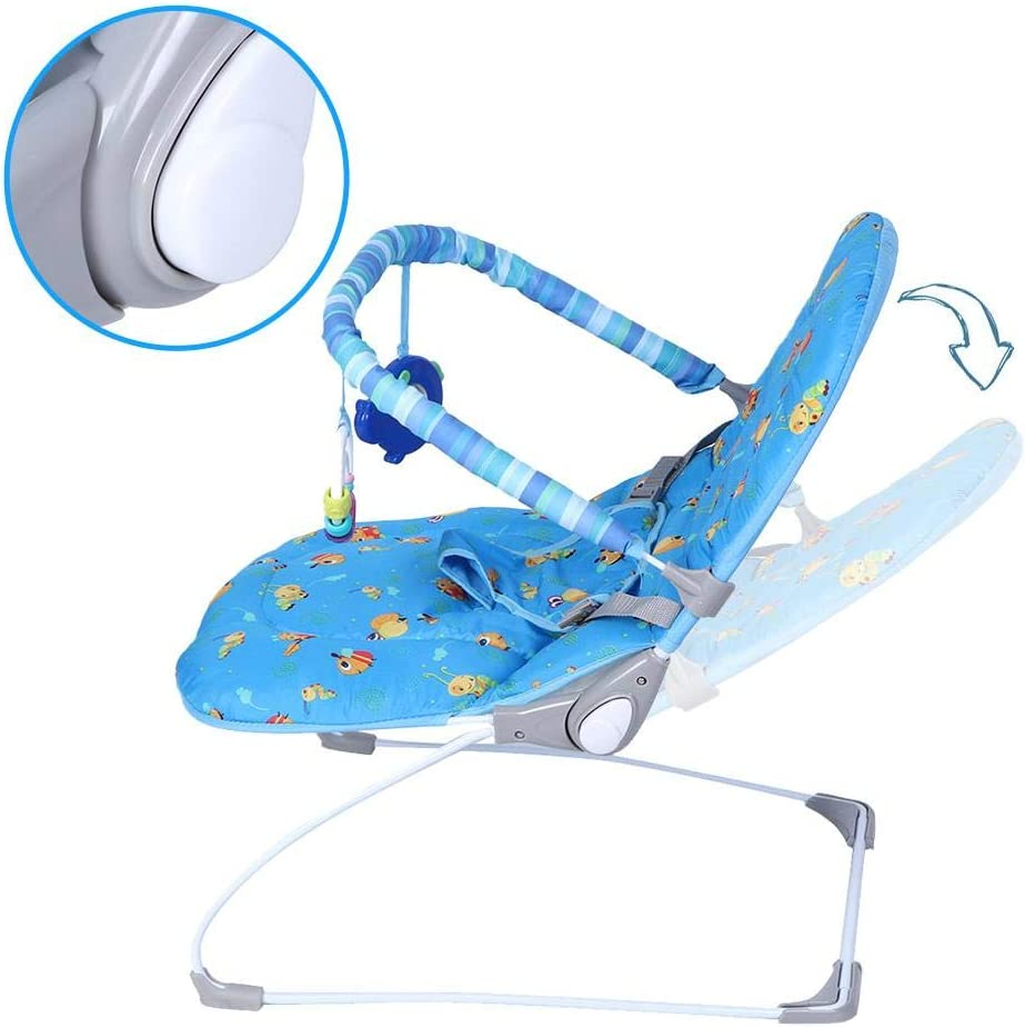 Infant Swing Rocker Comfort Chair Comfort Vibration Toy with Music for Toddlers Kids Electric Baby Bouncer Cradle