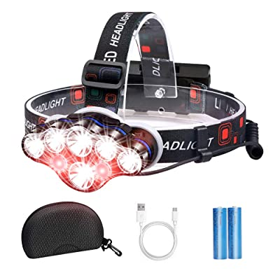 8LED Strong Headlights Head Torch Lamp Waterproof Flashlight For Outdoor Fishing