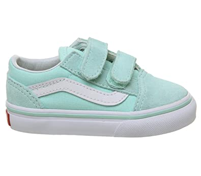 bf8b19ab30 Vans TD Old Skool V Blue Tint Suede 6.5 M US Infant