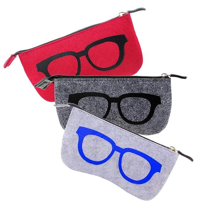 Amazon.com: Pack de 3 fundas para gafas de maquillaje con ...