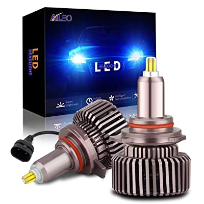 9012 HIR2 Led Headlight Bulb 360 Degree 80W Upgraded 6 Sides CSP Chips Bright White 6000K 12000LM with EMC Canbus Led Headlight Conversion Kit (Pack of 2): Automotive