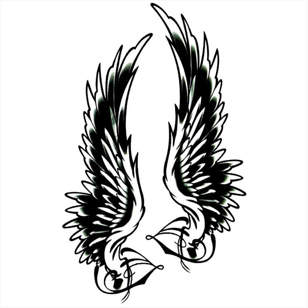 Tatuajes temporales religiosos con alas para hombre y mujer ...