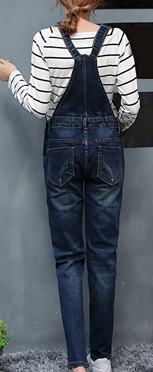 5979079393f4 Amazon.com  Foucome Women s Maternity Overalls Straight Leg Jeans  Preganancy Trousers  Clothing