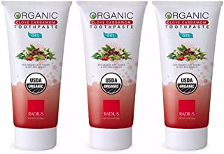 product image for RADIUS - Organic Gel Toothpaste - Clove Cardamom (3 oz) | 3-Pack
