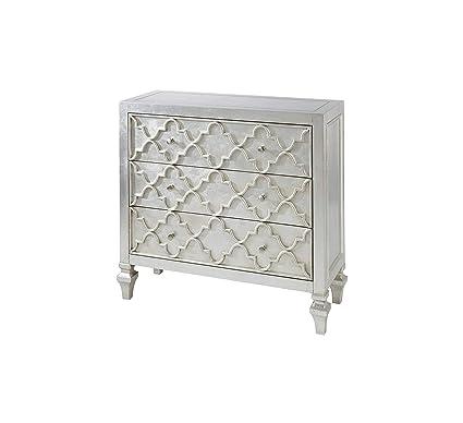 Amazon Com Furniture Somerset Wood Metal Living Room Storage