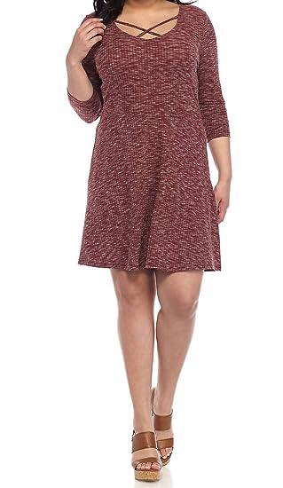 Amazon.com: Almost Famous Women\'s Plus Size Skater Dress ...