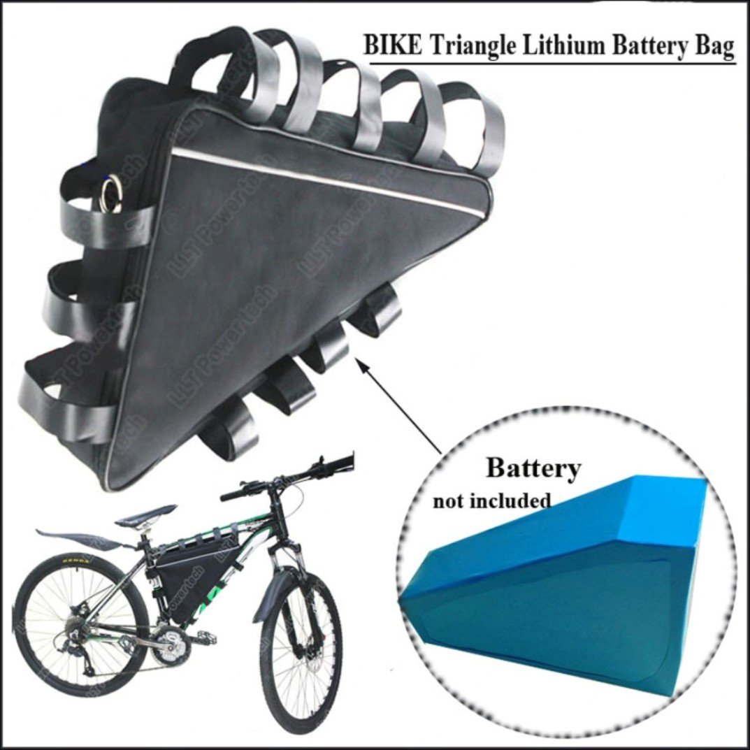 EUNORAU Ebike Empty Frame Large Size Bag Storage Triangle Bicycle Pack Down Tube and Box