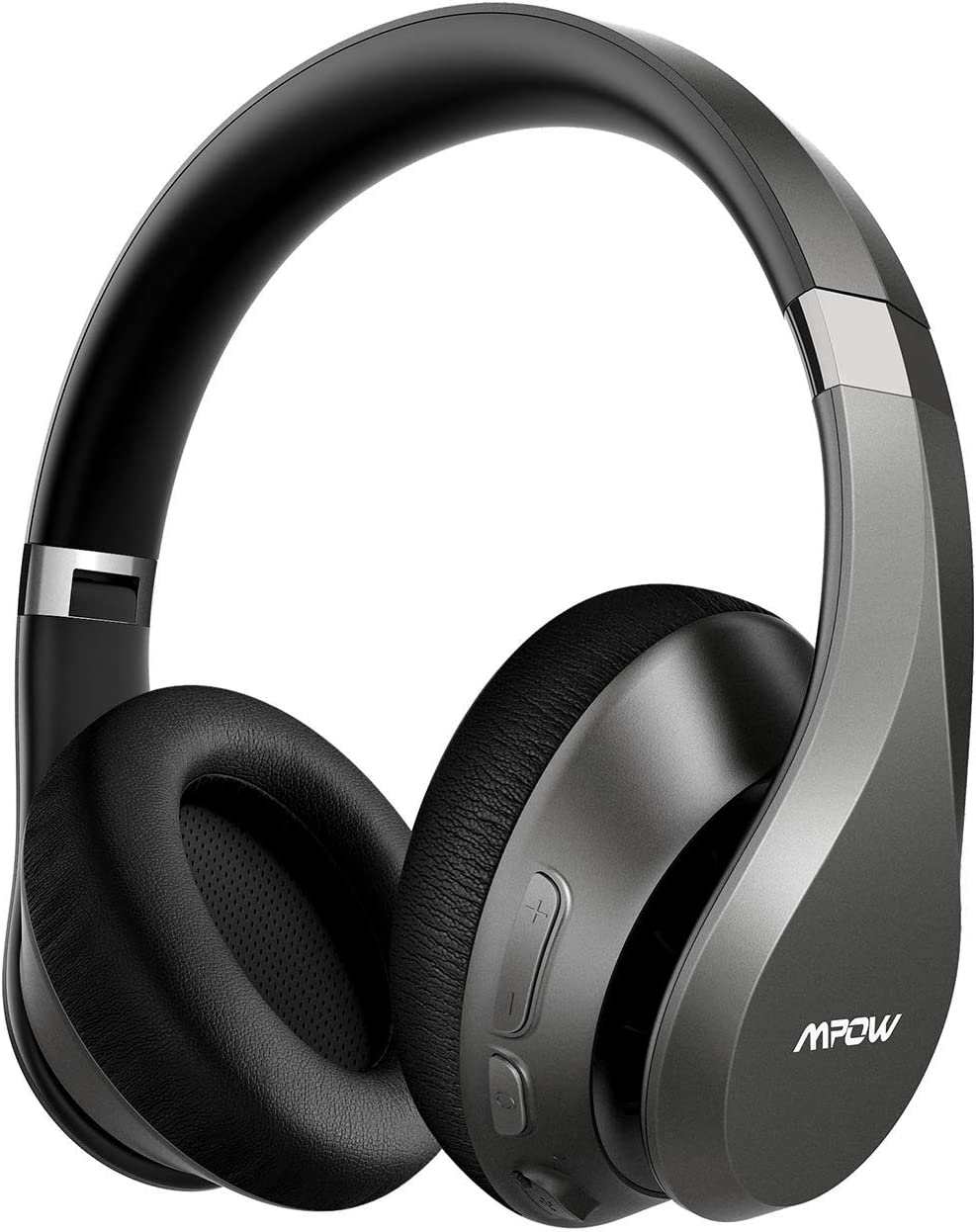 Mpow H20 Upgraded 059 Bluetooth Headphones Over Ear, Wireless Headphones with Latest CVC 8.0 Mic, 60 Hours Playtime Wireless Hi-Fi Deep Bass Headphones, Over Ear Headphones with Soft Earmuff